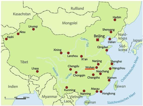 städte in china karte China   ArGe Pfadfinder